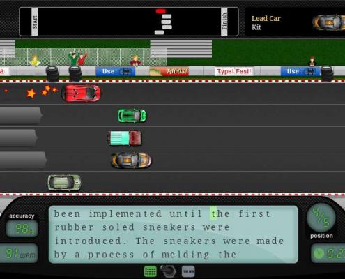 Đánh máy với Nitro Type Race